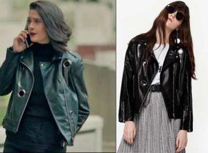 Poyraz-Karayel-kıyafetleri-80-Bölüm-Edanın-giydiği-siyah-deri-ceket-Twist-marka