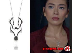 Kara Sevda Nihan kartal desenli kolye markası Lotus Diamonds.