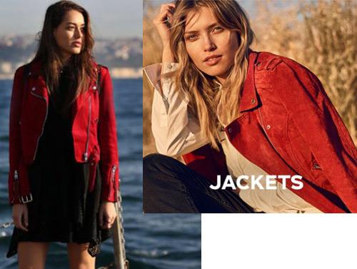 Çukur 2. bölüm Sena kırmızı deri ceket markası Vero Moda.