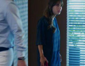 Dolunay Nazlı Kıyafetleri Dolunay 2. Bölüm: Nazlı uzun lacivert tişört elbise markası Zara