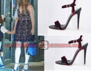 Dolunay Nazlı Kıyafetleri Nazlı siyah elbise ile giydiği bordo topuklu ayakkabı İlvi marka.