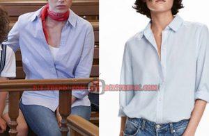 Dolunay Nazlı Kıyafetleri - Dolunay Nazlı Kıyafetleri Nazlı'nın giydiği mavi uzun kollu gömlek markası H&M.