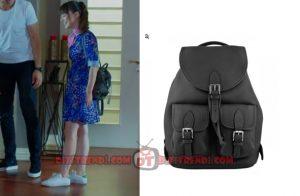 Dolunay Nazlı Kıyafetleri Dolunay 5. bölüm Nazlı siyah Sırt çantas markası Tulla