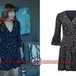 Dolunay Nazlı Kıyafetleri Dolunay 6. bölüm dizi kıyafetleri nazlı siyah elbise Forever New marka.