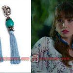Dolunay Nazlı kıyafetleri Dolunay 7. bölümde Nazlının taktığı püsküllü mavi küpeler Monreve marka 122