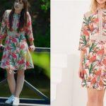 Dolunay Bulut'un doğum gününde Nazlı'nın giydiği çiçekli elbise Trendyol Milla marka.