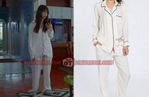 Dolunay Nazlı Kıyafetleri Dolunay Nazlı beyaz pijama takımı markası Lutino