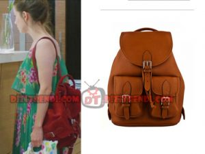 Dolunay Nazlı Kıyafetleri NAzlı sırt çantası hangi marka? Dolunay 1. bölümde Nazlı yeşil elbise ile giydiği sırt çantası Tulla marka.